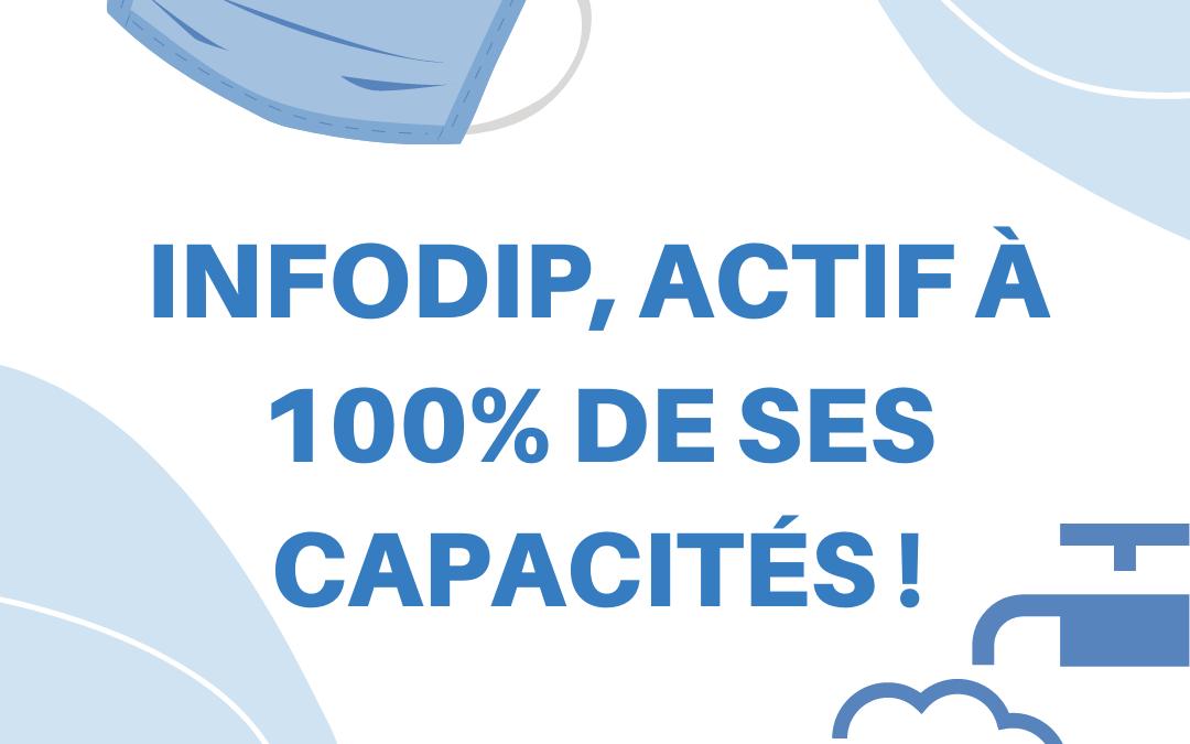 Infodip, actif à 100% de ses capacités !